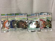 6 MOSQUITNO MOSQUITO DEET - FREE REPELLENT WRISTBANDS SMALL CITRONELLA INFUSED