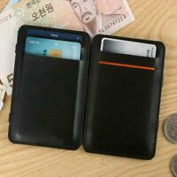 Mens Magic Flip Wallet Money Clip Bifold Slim Credit Holder Purse Card NEU A5S7