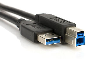 Fast USB 3.0 Printer Cable A to B High Speed Fast Data Lead HP Brother Canon
