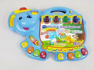 Vtech Touch and Teach Elephant - Learning Educational Toy Numbers Alphabet Songs