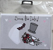 Save The Date Wedding Bride & Groom Hearts Love Invites By Saffron