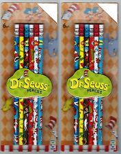 Set of 12 Dr Seuss Pencils The Cat in the Hat One Fish Two Fish