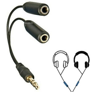 Splitter AUX Y-Adapter Klinke Y Kabel Verteiler Audio 3,5mm Stecker Kopfhörer