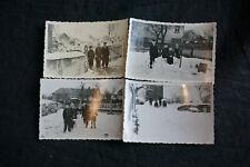 Fotos Bischheim Haselbachtal Bautzen 4 Kinder im Schnee 1944 vor Gebäuden
