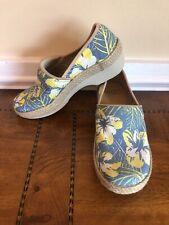 Dansko Size 37 Victoria Tahiti Floral Canvas Clogs Women's Work Shoes
