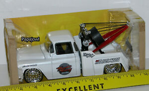Jada 1:24 1955 Chevrolet Stepside Tow Truck 55 Chevy Hookem Up Bigtime Kustoms