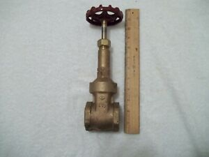 "Crane 1-1/2"" # 431 Bronze Class 150 Rising Stem Gate Valve NPT New Open Box"