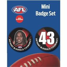 Mini Player Badge Set - Essendon Bombers - Anthony McDonald-Tipungwuti