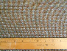 """6 yds wool silk blend brown gray small woven check 59"""" wide costumes crafts"""