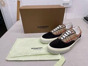 Burberry Wilson Plaid Beige / Black Sneakers - Euro Size 45
