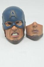 """1//6 CAPITAN AMERICA TESTA SCOLPIRE con collo Avengers mossa finale per 12/"""" FIGURA MASCHILE"""
