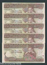 F.C. ETIOPIA ETHIOPIA , 5 UNIDADES 10 BIRR 2008 , S/C ( UNC ) , P.48e .