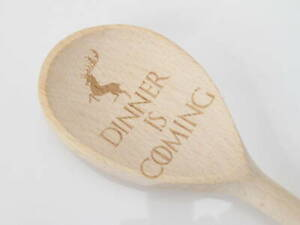 Baratheon Dinner is Coming GOT Game of thrones Wooden Fun Spoon Engraved Novelty