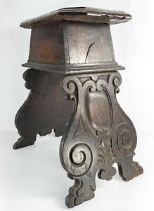 Antique 16th/17th Century Italian Walnut Renaissance Gothic Stool End Side Table