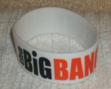 RUBBER SILICON WRISTBANDS ** THE BIG BANG THEORY ** NEW - 25 cm - COLOUR WHITE