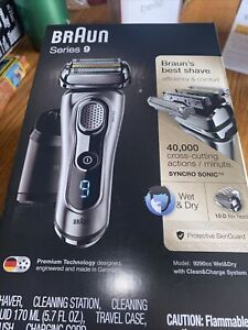 **BRAND NEW** BRAUN 9 Series 9290cc Advanced Clean Wet & Dry Men SHAVER - Open