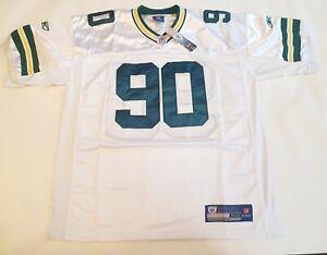 New Green Bay Packers White NFL Shirt Jersey #90 RAJI THROWBACK Size XL
