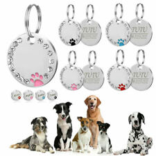 Personalised ENGRAVING Dog ID/Cat ID Name Bling Tag Puppy Pet ID Tags 10 COLORS