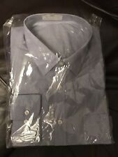 Bnwt Mens Long Sleeve Cotton Mix Blue Mix Shirt 16.5 Collar