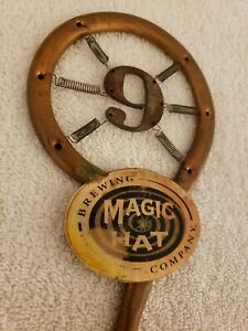Vintage Magic Hat No.9 IPA Beer Bar Tap Handle Copper Steam Punk with Springs