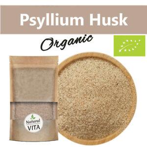 Certified Organic Psyllium Husk 100% PURE & NATURAL Soluble Fibre No GMOs Vegan