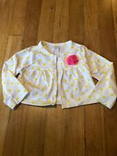 Carters Infant Girls White Yellow Polkadot Cardigan Top Size 12 Months