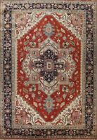 Geometric Heriz Serapi Palace Size Handmade Traditional Oriental Area Rug 12x18