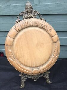 "Victorian Sycamore Carved Bread Board "" WELCOME """
