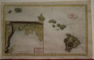 HAWAII UNITED STATES 1782 THOMAS CONDER UNUSUAL ANTIQUE COPPER ENGRAVED MAP