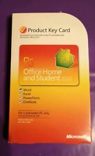 MICROSOFT OFFICE  2010 HOME & STUDENT PRODUCT KEY CARD GENUINE WORD ETC