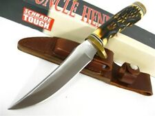 Schrade Uncle Henry Golden Spike Fixed Blade Knife + Leather Sheath 153UH