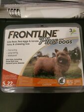 Frontline Plus For Dog 5 - 22 lbs Flea Tick Treatment Extra Small Dogs/3 Doses