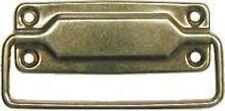 Brass Plated Steel Interior Trunk Drawer Pull chest steamer antique VINTAGE NEW