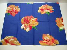 Springs Industries Floral Pillow Sham ~ Blue Multi ~ Standard *New*