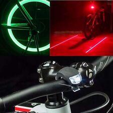 SAFETY KIDS LED BICYCLE BIKE LIGHTS SET(FRONT/REAR/WHEELS) + FREE BATTERIES
