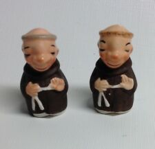 Vintage 50's Friars/Monk Salt and Pepper Shakers Japan