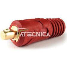 Conector base para cables soldadura DINSE 35 mm de 250A rojo