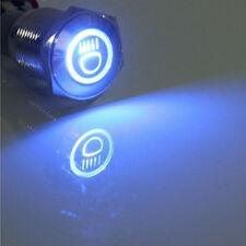 16mm 12V LED Licht tastender Knopf Metallschalter Auto Blau Fernlicht HY