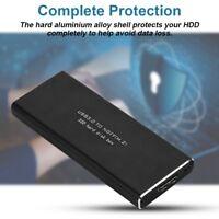 USB3.0 to NGFF M.2 B Key External SSD Black Converter Adapter Enclosure Case Box