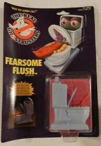 1986 Kenner Real Ghostbusters Fearsome Flush Toilet Ghost Toy MOC NOC