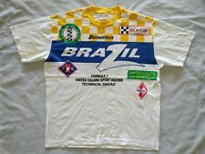 Vintage United Colors Of Benetton Formula 1 Brazil Race T Shirt