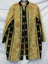Silhouettes Tapestry Coat with Mandarin Collar  (Pre-owned)  Size 16