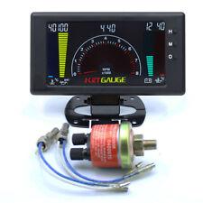 """5""""  6 in 1 Digital Gauge Oil Pressure Gauge oil temp VOLT Water Temp RPM 1/8 NPT"""