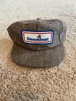 Vintage Steamboat Colorado Ski Resort Tweed Patch Hat Cap SnapBack Youngan Rope