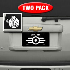 Fallout 4 - VAULT-TEC License Plate & PIP Boy vinyl decal - Fallout 4