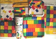 BLOCK PARTY Lego Birthday Party Supply SUPER KIT w/Loot Bags,Invites & Banner