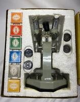 Vintage TASCO MICROSCOPE KIT 45XSM  No 995 Quality Optics JAPAN IN BOX !!