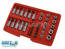 "34pc 3/8"" Drive Torx Bit & E Socket Set, Star 11pc Torx Star Bits 3/8"" Drive"