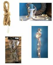 LED Lichterkette Jute Seil mit 20 Lichtern Lichtgirlande Lichterschlauch (F000)