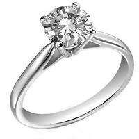 Platinum 0.50ct Solitaire Diamond Engagement Ring Certified Natural Diamond